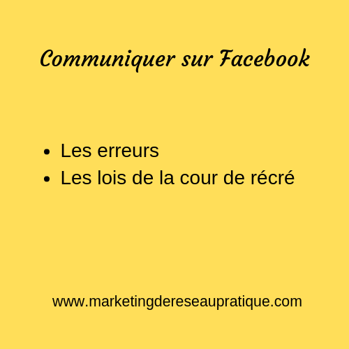 Communiquer sur Facebook