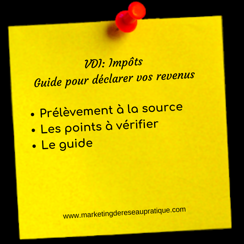 VDI_ Impôts Guide pour déclarer vos revenus